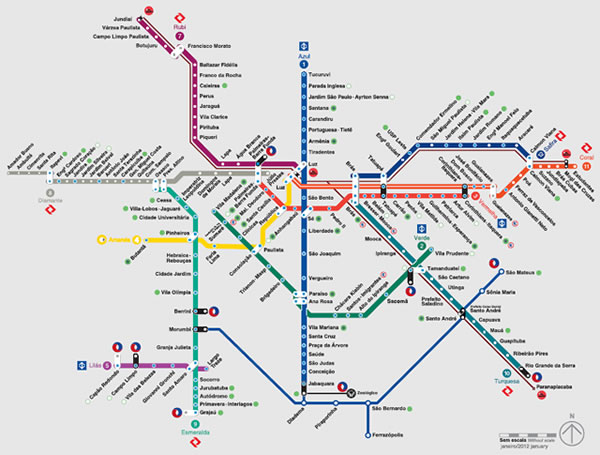 Subway Map G.Subway And Bus Paths To The Congonhas Airport Sao Paulo Cgh