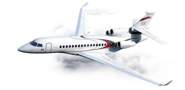 O Dassault Falcon 8X é um dos jatos executivos mais caros do mundo / Divulgação